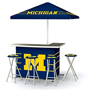 Best of Times Patio Bar and Tailgating Center Deluxe Package- University of Michigan by Best of Times, LLC