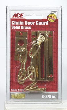 "ACE 01-3016-105 3-3/8"" CHAIN DOOR GUARD SOLID BRASS"