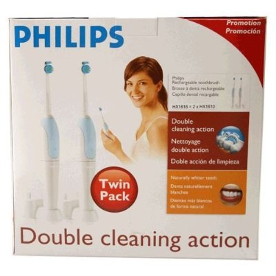 Philips Electric Rechargable Twin Pack Toothbrush HX616