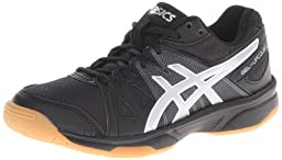 ASICS Gel-Upcourt GS Volleyball Shoe (Little Kid/Big Kid),Black/Silver,3 M US Little Kid