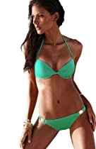 Triangle bikini sexy bikini swimwear bikini swimwear spot Blue and green S