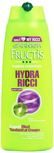 Garnier Fructis - Shampoo fortificante, Filloxane e Estratto di linfa di Bambù, per capelli ricci, tendenti al crespo -  250 ml