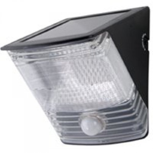 All Pro Outdoor Security Msled100 100-Degree Led Motion-Activated Solar Light, Black Garden, Lawn, Supply, Maintenance