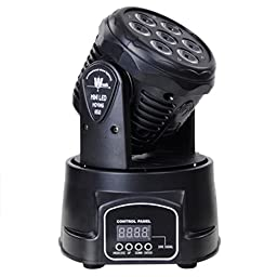 10W Mini Moving Head LED Headbanger Moving Head for Indoor Use LED Mini Moving Head DJ Disco Stage Party Effect Lighting