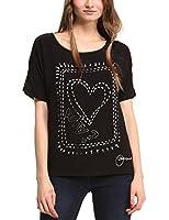 Desigual Raquel - T-shirt - Col bateau - Manches courtes - Femme