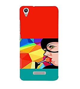 PRINTVISA Girl Lollipop Case Cover for Lava Pixel V1