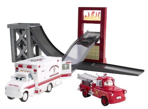 Buy Low Price Mattel Cars Toon Rescue Squad Mater Track Set Figure (B003H4RCM0)