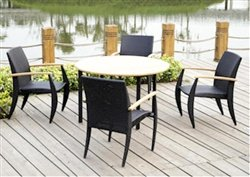 Anderson Teak SR002 Venetian Outdoor Dining Table Set SR002