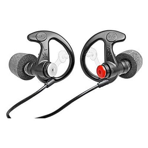 Earpro Sonic Defenders Ultra Foam-Tipped Earplugs (EP7), 28 dB, Large, Black, 1 Pair