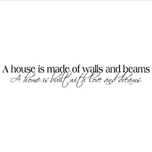 Amazon com a house is made of walls and beams a home is built with