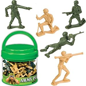Army Soldiers Play Set in Easy to Carry Container with Lid