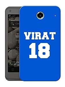 "Virat Kohli - 18 - Blue Printed Designer Mobile Back Cover For ""Lenovo S880"" By Humor Gang (3D, Matte Finish, Premium Quality, Protective Snap On Slim Hard Phone Case, Multi Color)"