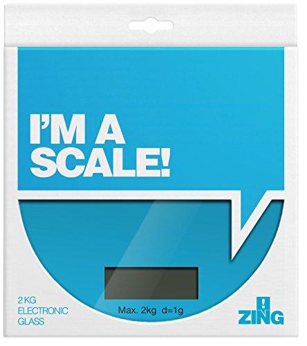 Premier Housewares 0807250 Zing Balance de Cuisine Électronique en Verre Base ABS Bleu 2 kg