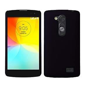 SellNxt Rubberized Coated Matte Hard Back Case for LG L Fino D295 (Black)