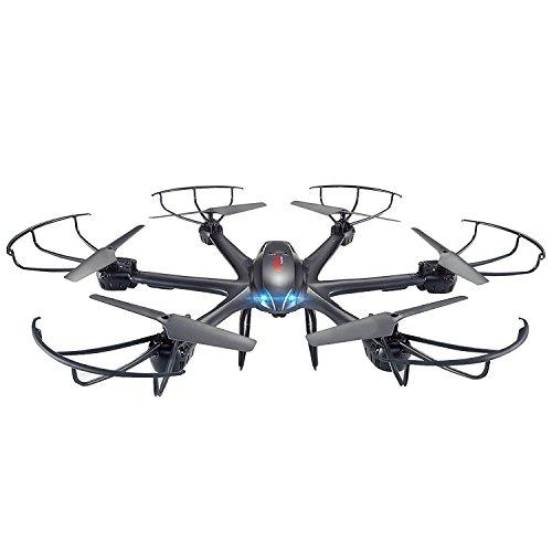 GizmoVine Quadricottero 6 ASSI MJX GYRO X601H 4 Canali. Elicottero RTF Drone RC con Modalità Headless Mode, Funzione Ritorno Automatico One Key a 3D Roll FPV Real-Time Nero