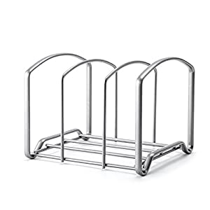 Kitchen Pantry Rack, X-Chef Houseware Kitchen Cabinet and Pantry Organizer Rack, Pan Rack, 3 Compartments (Sliver)