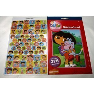 Dora The Explorer Stickerland Book 4 pages-276 stickers