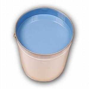 5 98 eur l 5 liter blau bodenfarbe betonfarbe garagenfarbe industrieboden pu farbe. Black Bedroom Furniture Sets. Home Design Ideas