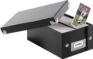 Snap-N-Store Trading Card Storage Box, 8.25 x 3.75 x 5 Inches, Black (SNS01801)