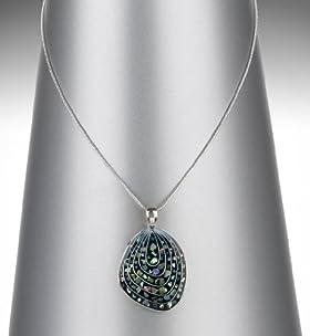 Silver Plated Swirl Pendant Retro Necklace
