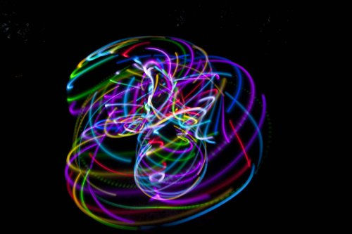 """36"""" - 24 Color Changing LED Hula Hoop - PolyPro - Cotton Candy Rainbow"""