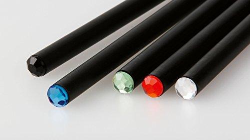 STOCK-50-PEZZI-Matita-nera-con-strass-colorato-ideale-per-bomboniera-segnaposto