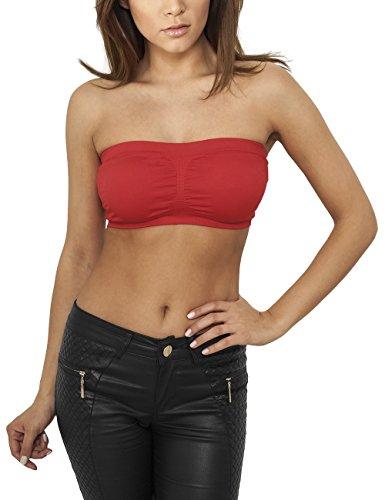 Urban Classics Ladies Pads Bandeau, Vestaglia Donna, Rosso (Red 199), 36 Inches (Taglia Produttore: S)