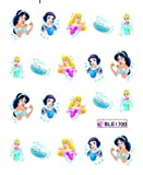 Egoodforyou BLE Nail Art Water Slide Nail Tattoo Water Transfer Nail Decal Sticker (Disney Princess) with one packaged nail art flower sticker bonus