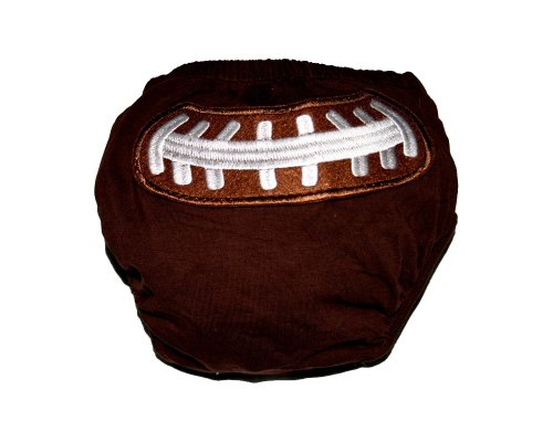 KWC - American Football Baby/ Toddler Diaper Cover Bloomer (Touch Down) (Small)