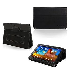 Snugg (TM) - Étui Pour Samsung Galaxy Tab 2 10.1- Housse Avec Support Pied Et Une Garantie à Vie (En Cuir Marron) Pour Samsung Galaxy Tab 2 10.1