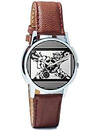 BigOwl Virtual World Analog Men's Wrist Watch 5094054526-RS1-W-BRW