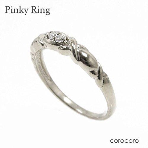 シンプルピンキー天然ダイヤモンドリング指輪プラチナピンキーリング