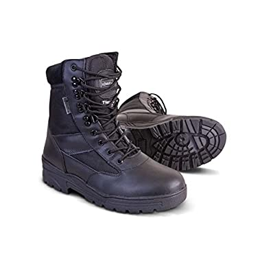 Kombat Britsh Army Style Combat Black Military Patrol Hiking Boot Ta Cadet Work Uk 4-12 - 4 Uk