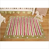 41lruEXyzkL. SL160  My Baby Sam Medallion polka dot Rugs, Pink/Green