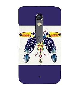 printtech Bird parrot Ethnic Pattern Back Case Cover for Motoroal Moto X Play