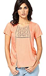 Only Women'S Casual Top (_5712069278140_Fiery Coral_38_)