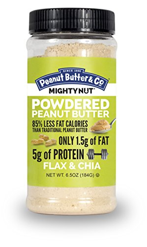 Peanut Butter & Co. Mighty Nut Powdered Peanut Butter, Flax & Chia, 6.5 Ounce (The Chia Co compare prices)