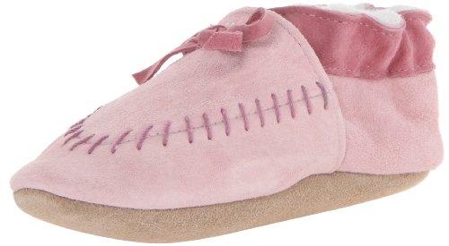 Robeez Cozy Moccasin Pk Crib Shoe (Infant/Toddler),Pink,6-12 Months M Us Infant