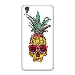 Abhivyakti Funny pineapple Skull Hard Back Case Cover For One Plus X