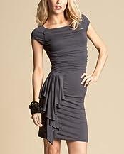 Asymmetric Cascade Dress