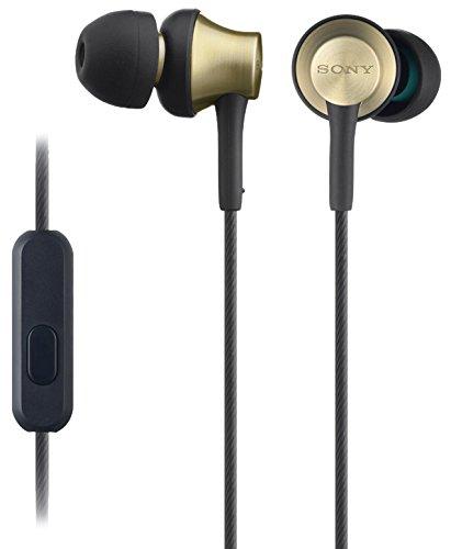Sony MDR-EX650AP Cuffie Auricolari con Microfono e comandi per Smartphone, Nero/Ottone