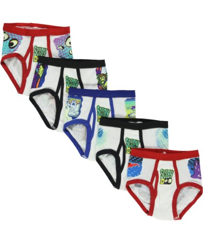 """Scooby-Doo """"New Mysteries"""" 5-Pack Boys Briefs - Colors As Shown, 4"""