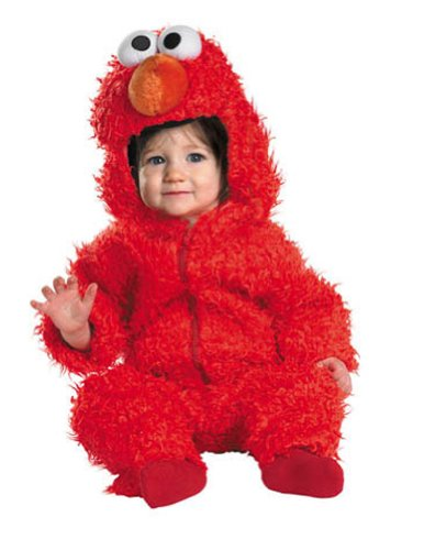 Elmo Fuzzy Toddler Costume 12-18 Month - Toddler Halloween Costume