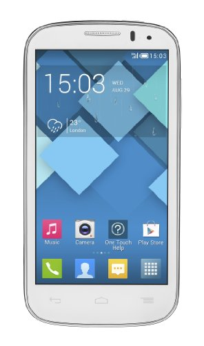 Alcatel One Touch Pop C5 Smartphone, Dual SIM, 4 GB, Bianco [Italia]