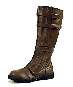 Brown Knee High Strapped Steampunk Renaissance Starwars Star Trek Mens Boots Mens Size Small 8-9