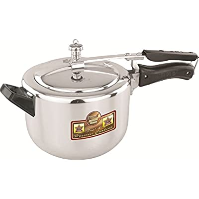 Anmol Inner Lid Aluminium Pressure Cooker-6 LTR. With Interlocking System