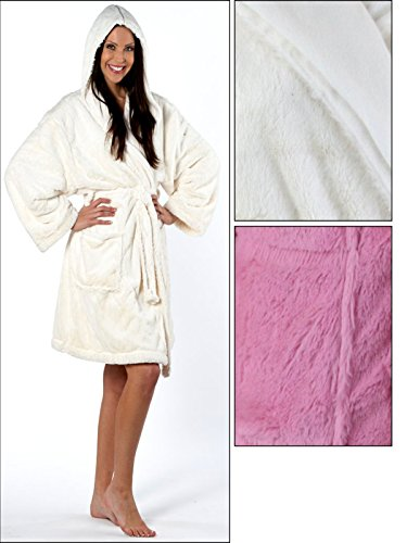 Slenderella Ladies Luxurious Soft Fleece Dressing Gown Zip Up With