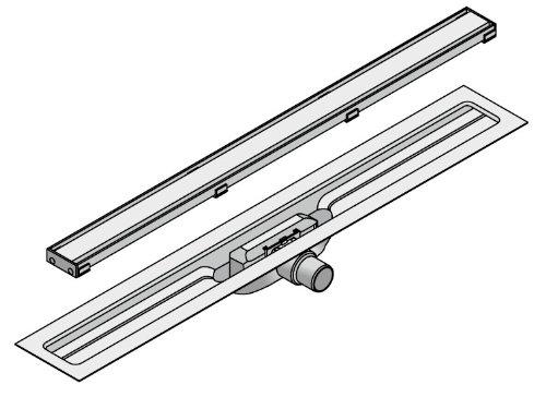 I-DRAIN Drain Linear Länge 80cm Duschrinne 54 mm Einbauhöhe 1 Siphon