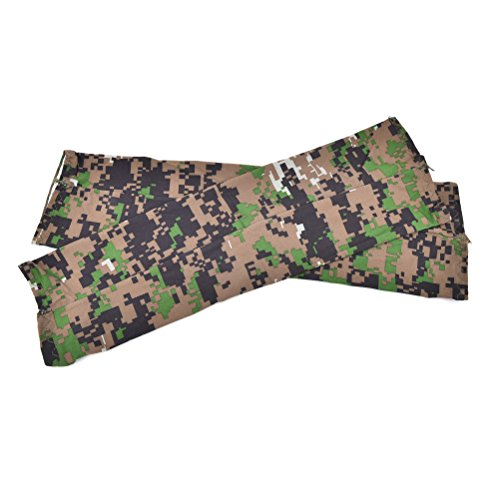 UhoMEy Camouflage Cooling Arm Sleeves Sun UV Protection Cover Golf Bike Sports