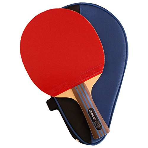 Custom Professional Table Tennis Paddle with Gambler Tension Hinoki Carbon Table Tennis Blade and Gambler Aces Rubber plus Case